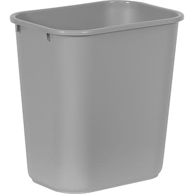 Brighton Professional™ Rectangular Wastebaskets; Gray, 7 gallons