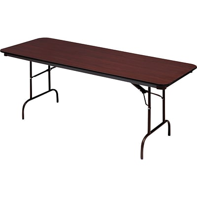 Iceberg® Premium Wood Laminate Folding Tables, 96x30, Mahogany