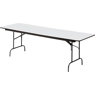 Iceberg® Premium Wood Laminate Folding Tables, 96x30, Gray
