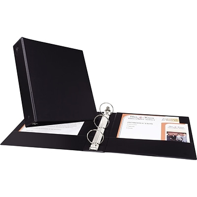 Avery® Economy 2 Round Ring Binder, Non-View, Black, 3-Ring