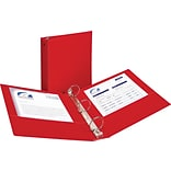 2 Avery® Economy Binder with Round Rings, Red