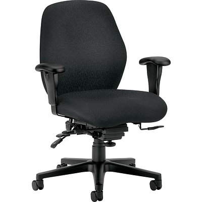 HON® 7800 Series Task Chairs, Mid-Back, Black