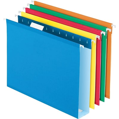 Pendaflex® Box Bottom Hanging File Folders, Letter Size, Assorted Colors