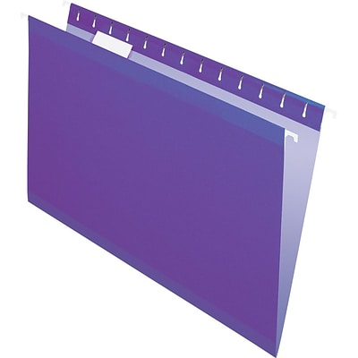 Pendaflex® Recycled Colored Hanging File Folders, Legal Size, Violet
