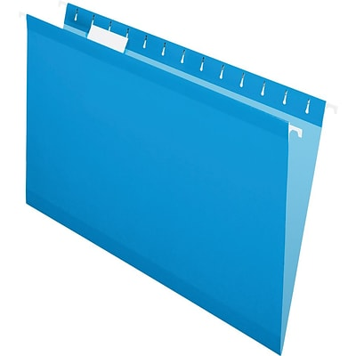 Pendaflex® Recycled Colored Hanging File Folders, Legal Size, Blue