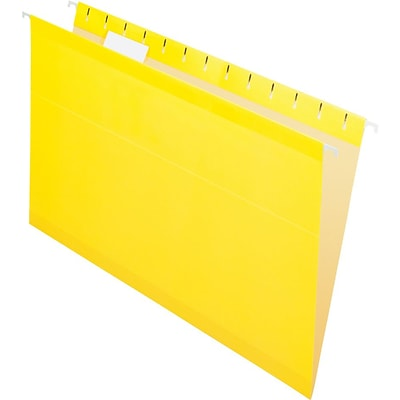 Pendaflex® Recycled Colored Hanging File Folders, Legal Size, Yellow