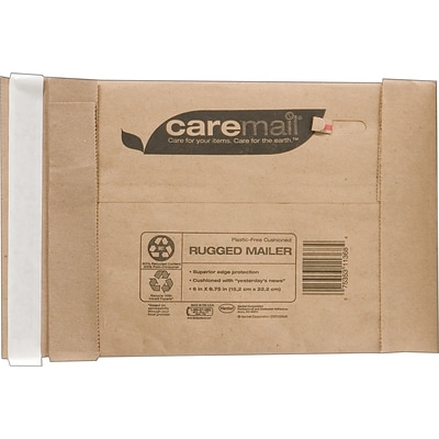 CareMail® Recycled Padded Mailers; #2, 8-1/2x10-3/4, 25/Pack