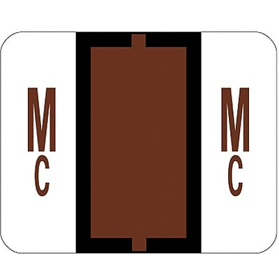 Smead BCCR Labels File Folder Label, MC, Brown, 500 Labels/Pack (67097)