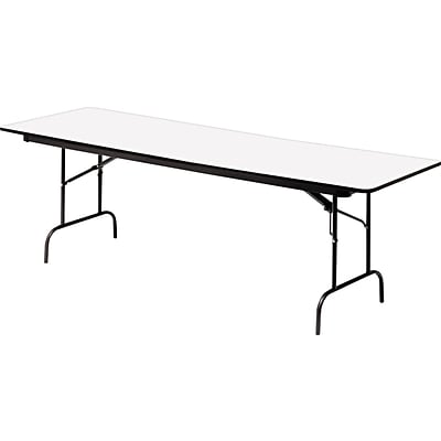 Iceberg® Premium Wood Laminate Folding Tables, 60x30, Gray