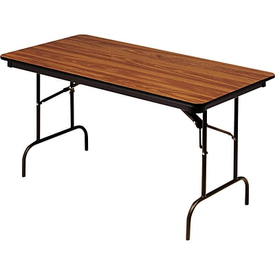 Iceberg® Premium Wood Laminate Folding Tables, 72x30, Oak