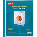 Black Holds 24 Letter-Size Sheets 12 Pockets Cardinal Custom ShowFile Presentation Book Customizable Cover 50132CB