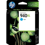 HP 940XL Cyan Ink Cartridge (C4907AN); High Yield