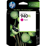 HP 940XL Magenta Ink Cartridge (C4908AN); High Yield