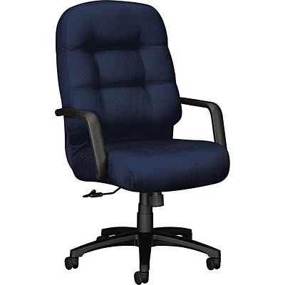 HON® 2091 Pillow-Soft™ Polyester High Back Swivel/Tilt Chair, Mariner, Seat: 22W x 21D, Back: 22W x 23 1/2H