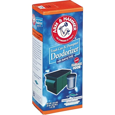 Arm & Hammer® Powdered Trash Can and Dumpster Deodorizer, Unscented, 42 6/10 Oz.