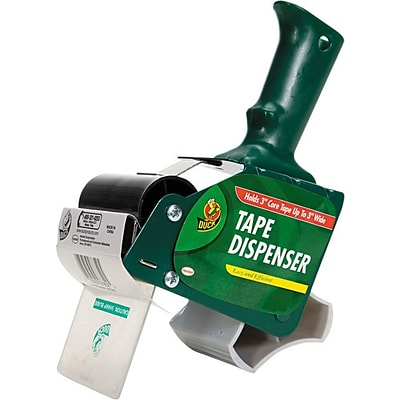 Extra-Wide Packing Tape Dispenser, 3 Core, Green, Each