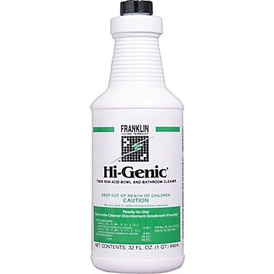 Franklin Cleaning Technology  Hi-Genic  Bowl And Bathroom Cleaner, Floral, Blue, 32 oz. Bottle