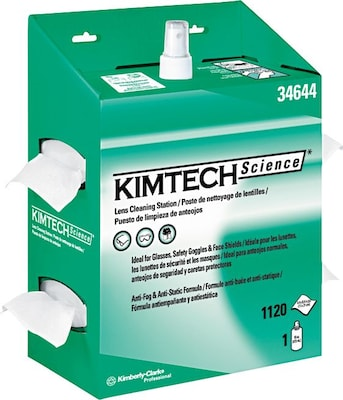 Kimtech Science(tm) Kimwipes(tm) Lens Cleaning Station, 4/carton