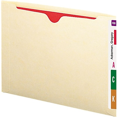Smead Recycled End Tab File Jacket, Letter, , Flat, Manila, 50/Bx