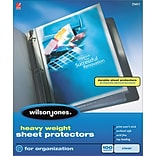 Wilson Jones Top-Loading Sheet Protectors, Heavy Weight, Clear, 3.3 mil, 50/Bx