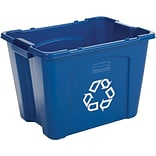 Rubbermaid® 14-Gallon Blue Recycling Box