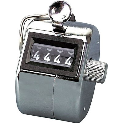 Tally i hand model tally counter, registers 0-9999, chrome (AVT9841000)