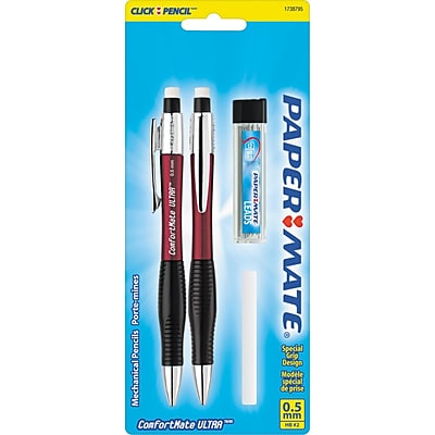 Paper Mate ComfortMate Ultra Starter Set Mechanical Pencils, No. 2 Medium Lead, 2/pk (1738795)