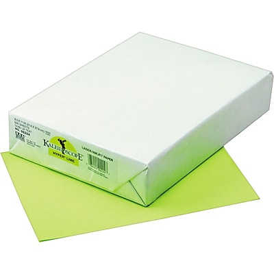 Pacon Kaleidoscope Multipurpose Colored Paper, Hyper Lime, 8 1/2 x 11, LETTER-size, 500 Sheets/Rm
