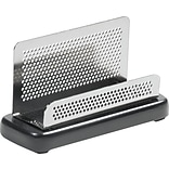 Rolodex Distinctions Business Card Holder, Capacity 50 Cards, Black, 2 1/4 x 4