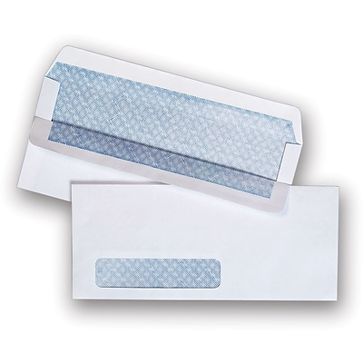 Left Window Self-Sealing Security-Tint #10 Envelopes, 500/Box (511290/99297)
