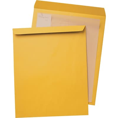Quality Park Inhumed Open-End Jumbo Envelopes, 15 x 20, Brown, 25/Bx