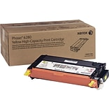 Xerox Phaser 6280 Yellow Toner Cartridge (106R01394); High Yield