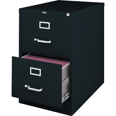 Quill 2-Drawer Legal Size Vertical File Cabinet, Black (26.5-Inch)
