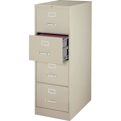 Quill 4-Drawer Legal Size Vertical File Cabinet, Putty (26.5-Inch)