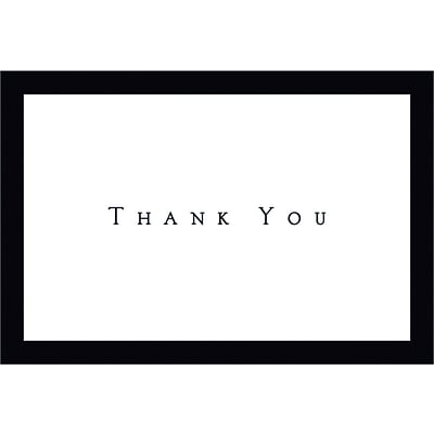 Masterpiece Studios Tuxedo Black Thank You Note Cards with Envelopes