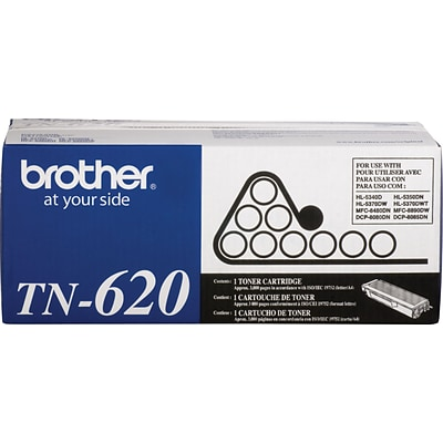 Brother Genuine TN620 Black Original Laser Toner Cartridge