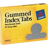 Avery® Round Gummed Index Tabs, 1/2 Extension, Gray