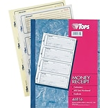 TOPS® Carbonless Money/Rent Receipt Book, 2-3/4 x 7-1/4, Carbonless Duplicate, 400 Sets