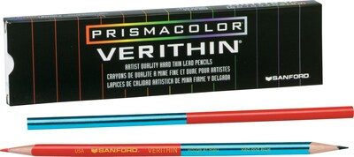 Prismacolor® Verithin® Colored Pencils, Red/Blue, 12/Pack