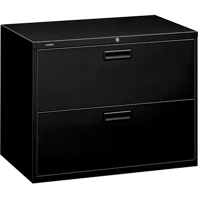 HON Brigade 2 Drawer Lateral File Cabinet, Letter/Legal, Black, 36W (H582LP)