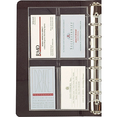 Day-Timer® Personal Organizer Refills, Desk-Size, Business/Credit Card Holder