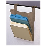 Deflecto Cubicle DocuPocket® Files, 3 Pockets, Letter-Size, Smoke, 13 x 4 x 7, 3/PK