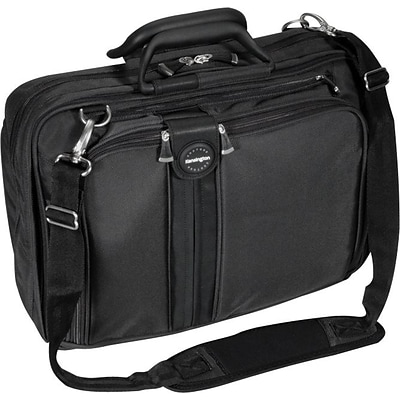 Kensington® SkyRunner® Contour Laptop Case, Multipocketed, Black