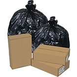 Brighton Professional™ 30-33 Gallon Trash Bags, High Density, Heavy Gauge, 8/25 Bags/Box, Black Colo