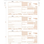 TOPS® 1099C Tax Form, 1 Part, Federal -- Copy A, White, 8 1/2 x 11, 50 Sheets per Pack