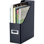Snap-N-Store™ Magazine File, 1-Compartment, Black, 13H x 4W x 9.875D