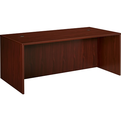 basyx by HON® BL Series 72W Desk Shell, Mahogany, 29H x 72W x 36D NEXT2017 NEXT2Day