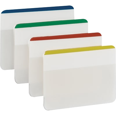 Post-it® Tabs, 2 Wide, Assorted Colors, Lined, 24 Tabs/Pack (686F-1)