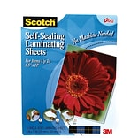 Scotch™ Self-Seal Single-Sided Laminating Sheets, Letter Size, 10 Pouches (LS854SS-10)