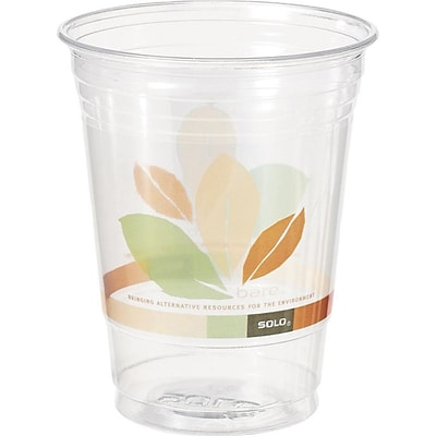 Solo® Bare® Eco-Forward® Recycled Content (RPET) Clear Cups, 12 oz, 50/PK